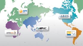 Regional Internet Registries regions